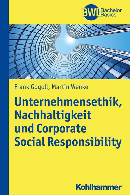 """Umschlag von """"Unternehmensethik, Nachhaltigkeit und Corporate Social Responsibility"""""""