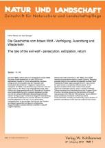 Die Geschichte vom bösen Wolf - Verfolgung, Ausrottung und Wiederkehr