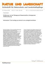 Einführung: von der Ökologie als Wissenschaft zur ökologischen Weltanschauung