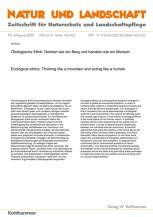 Ökologische Ethik: Denken wie ein Berg und handeln wie ein Mensch