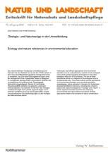 Ökologie- und Naturbezüge in der Umweltbildung