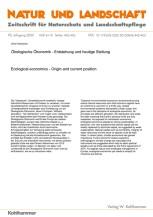 Ökologische Ökonomik - Entstehung und heutige Stellung