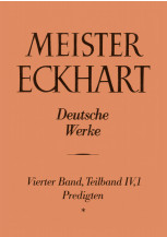 Meister Eckhart. Deutsche Werke Band 4,1: Predigten