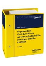 Vergabehandbuch für die Durchführung von kommunalen Bauaufgaben in Nordrhein-Westfalen K VHB NRW